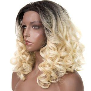 "14"" Dark Root Curly Platium Blonde Wig   Stella"